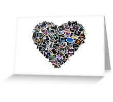 heart collage Greeting Card