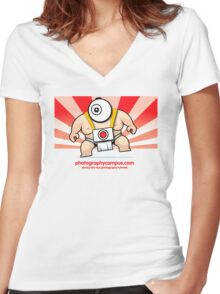 Photography Campus Sumo Women's Fitted V-Neck T-Shirt