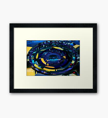 Taxi abstraction Framed Print