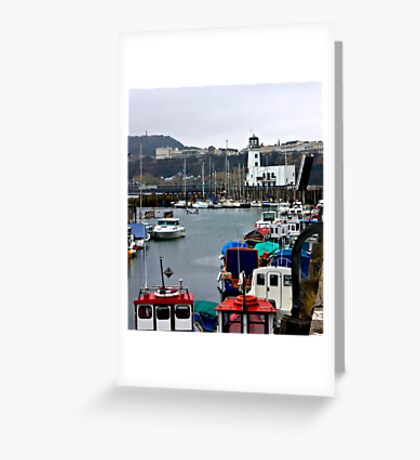 Scarborough Harbour #1 Greeting Card