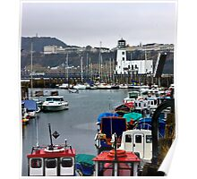Scarborough Harbour #1 Poster