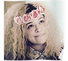 Helena (flower crown) Poster