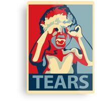 TEARS - crybaby stencil Metal Print