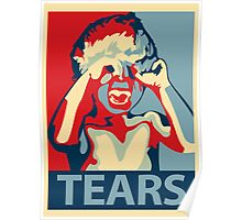 TEARS - crybaby stencil Poster