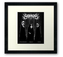 SAD PANDA - Logo and Band photo... Framed Print