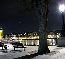 Bench by the Thames by Emilie JJ