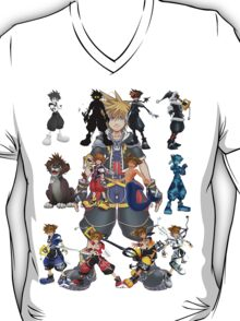 The Many Faces Of Sora . T-Shirt