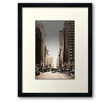 Manhattan Streetscape Framed Print