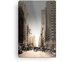 Manhattan Streetscape Metal Print