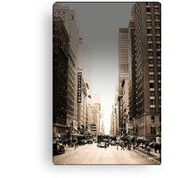 Manhattan Streetscape Canvas Print