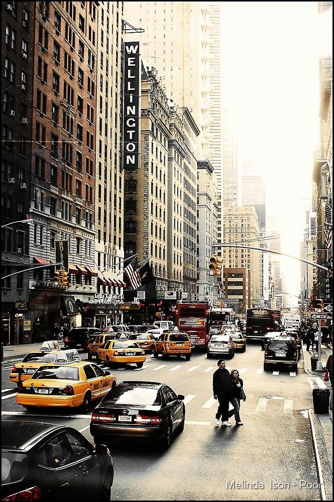 Manhattan Streetscape ii by Melinda  Ison - Poor