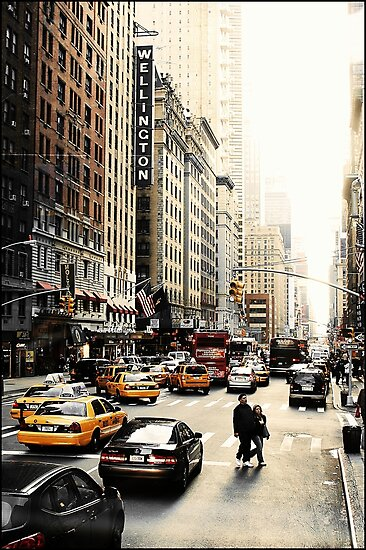 Manhattan Streetscape ii by Melinda  Ison - Poor