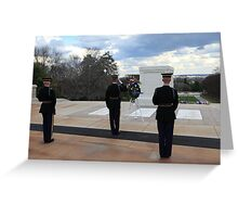 Arlington Cemetary Tomb Of The Unknown Soldier Greeting Card