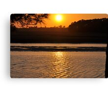 view of sunset Canvas Print