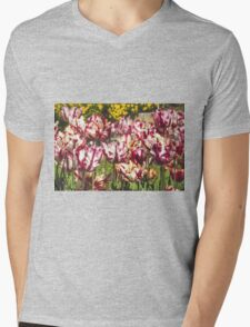 Tulips Galore Mens V-Neck T-Shirt
