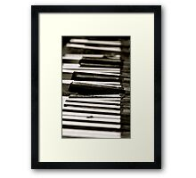Dead Piano Framed Print