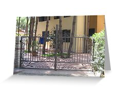 architecture,wrought iron Gate 8 Greeting Card