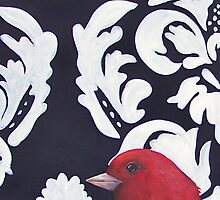 The Red Bird Series II by Megan Buccere