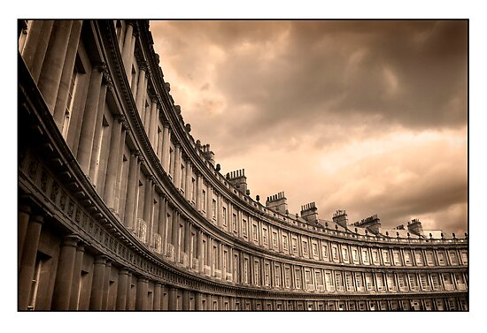 The Royal Crescent Bath Somerset by Mal Bray