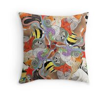 Complementary Tessellation Throw Pillow