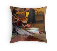 The Fish Shop Throw Pillow