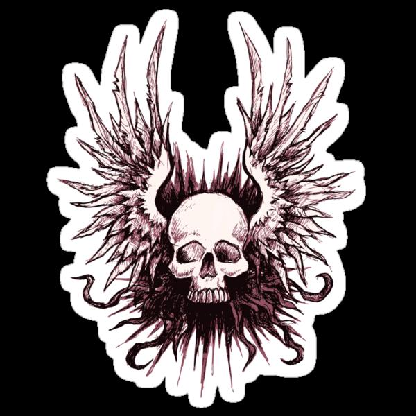 Skull Angel by beanarts