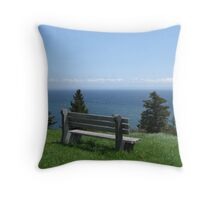 Cape George Bench Throw Pillow