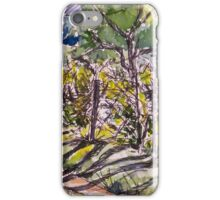 Vineyard, early morning. La Vigna Italy pen and wash 2010Ⓒ iPhone Case/Skin
