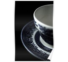 Flowers in the Window - English Tea Cup I Poster