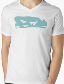 flying Mens V-Neck T-Shirt