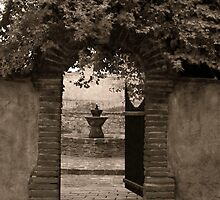 The Priest's Garden at the Mission San Juan Capistrano by clckac