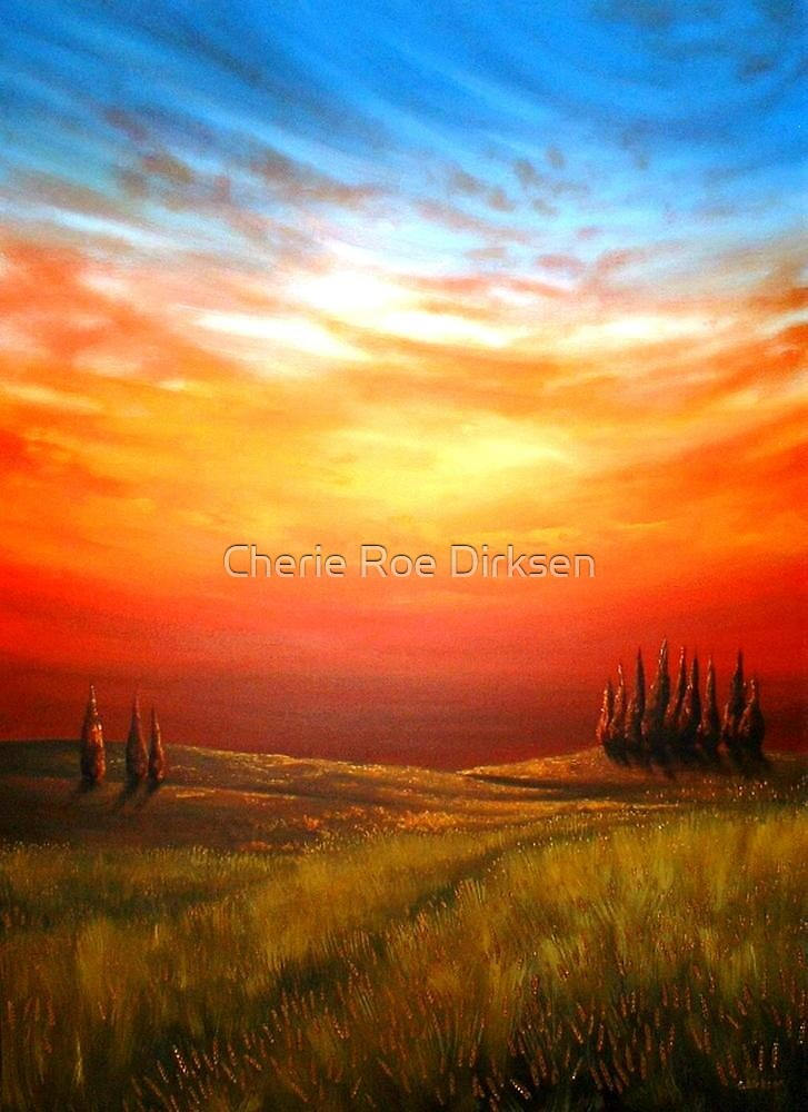 Sunset over the Wheatfield by Cherie Roe Dirksen