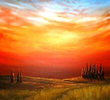 Sunset over the Wheatfield by Cherie Roe Dirksen