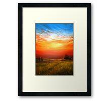 Sunset over the Wheatfield Framed Print