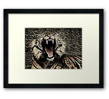 Roaring Tiger Framed Print
