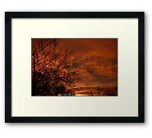 Christmas Sunrise Framed Print