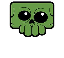 Green skully by riffraffART
