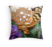 Butterfly In Your Face Throw Pillow