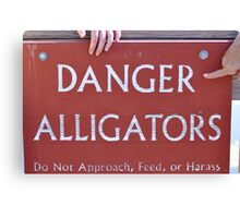 danger alligators Canvas Print