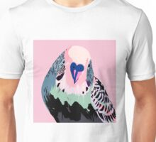 Budgie in Pink Unisex T-Shirt