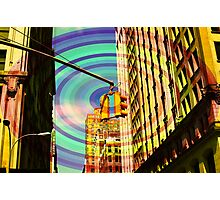 Popart city Photographic Print