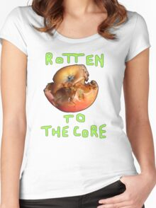 Rotten to the Core. Women's Fitted Scoop T-Shirt