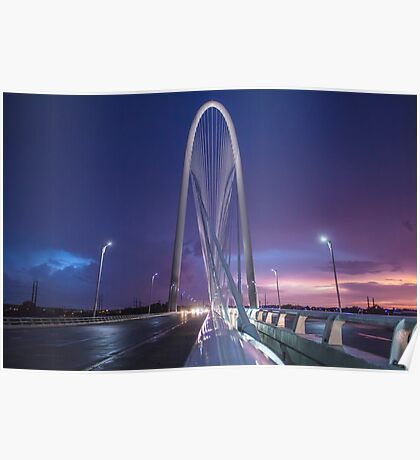 MHB Storm Sunset (Blue) Poster