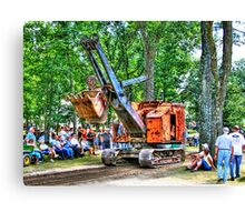 Steam Shovel Canvas Print