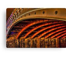 Night Under Princes Bridge Canvas Print