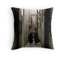 Nuns in Dubrovnik Throw Pillow