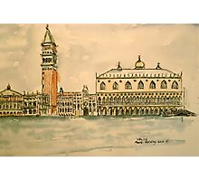 St Mark's Venice, Italy. 2010 Pen and wash.  Photographic Print