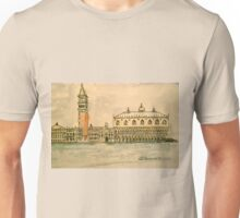 St Mark's Venice, Italy. 2010 Pen and wash.  Unisex T-Shirt