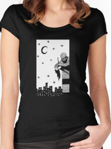 Robot Attack! Women's Fitted Scoop T-Shirt