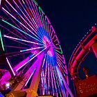 Pacific Park Ferris Wheel, Santa Monica Pier, Ca. by Stephen Burke